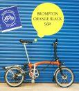 Brompton Orange Black S6R
